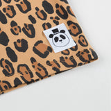 Boys & Girls Beige Basic Leopard T-shirt With Long Sleeves