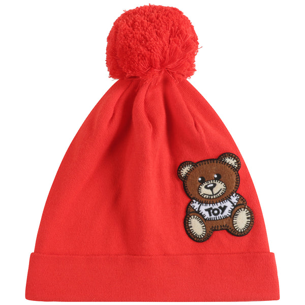 Baby Boys & Girls Poppy Red Cotton Hat