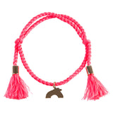 Girls Pink Bracelet with Charms