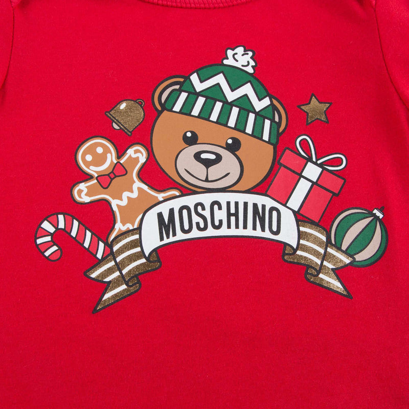 Baby Red Teddy Printed T-shirt