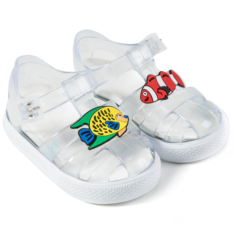 Boys & Girls  Transparent  Whit  Fish  Sandals
