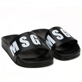 Boys & Girls Black Logo Slippers