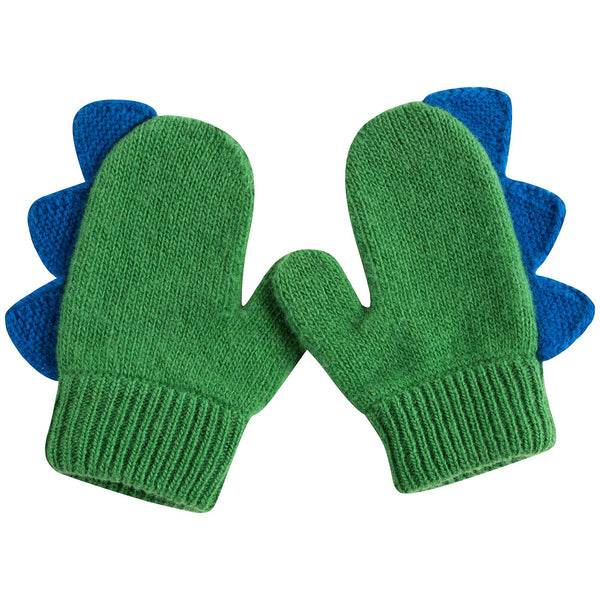 Girls Green Apple Wool Gloves