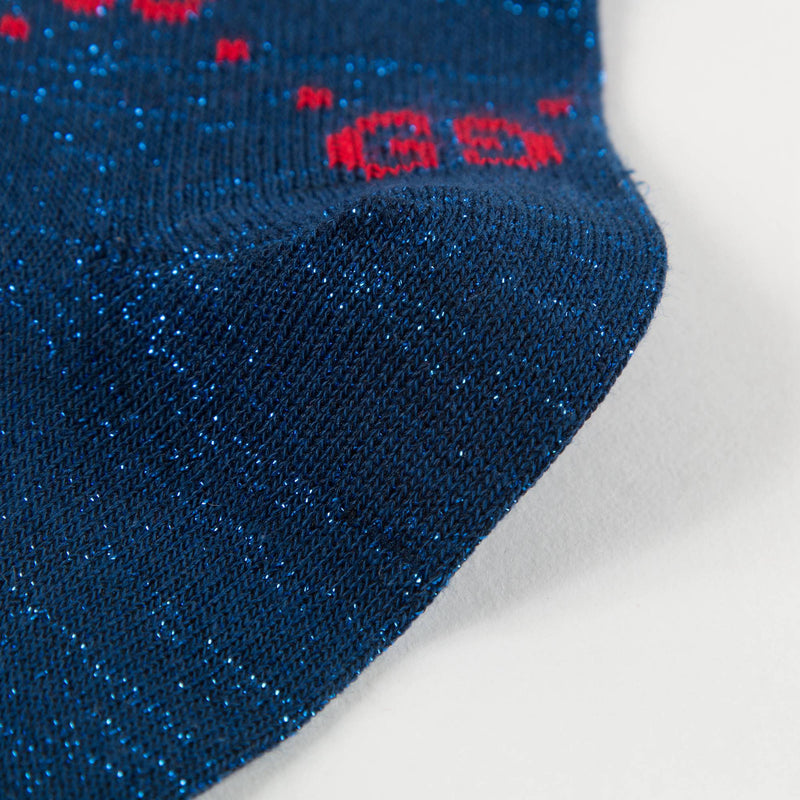 "Boys & Girls  Blue  Red ""GG"" Socks"