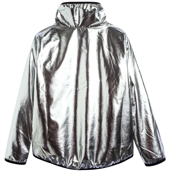 Boys Silver Nylon Jacket