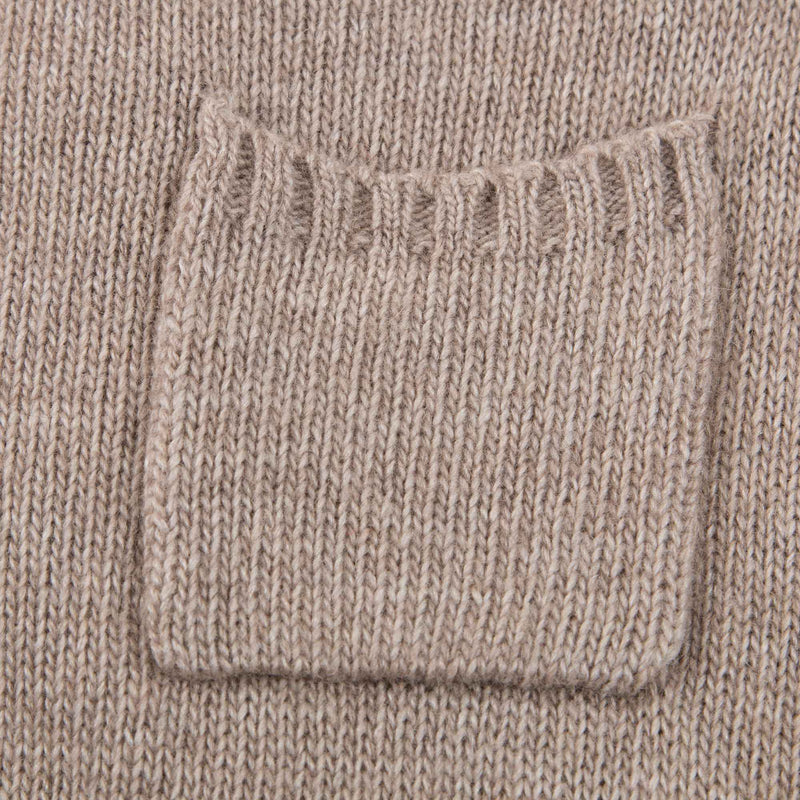 Baby Light Taupe Knitted Romper