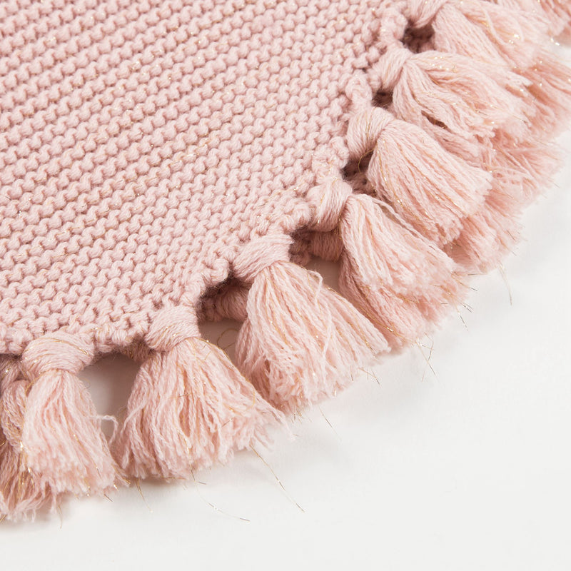 Baby Girls & Girls Wool knitted Pink  Poncho