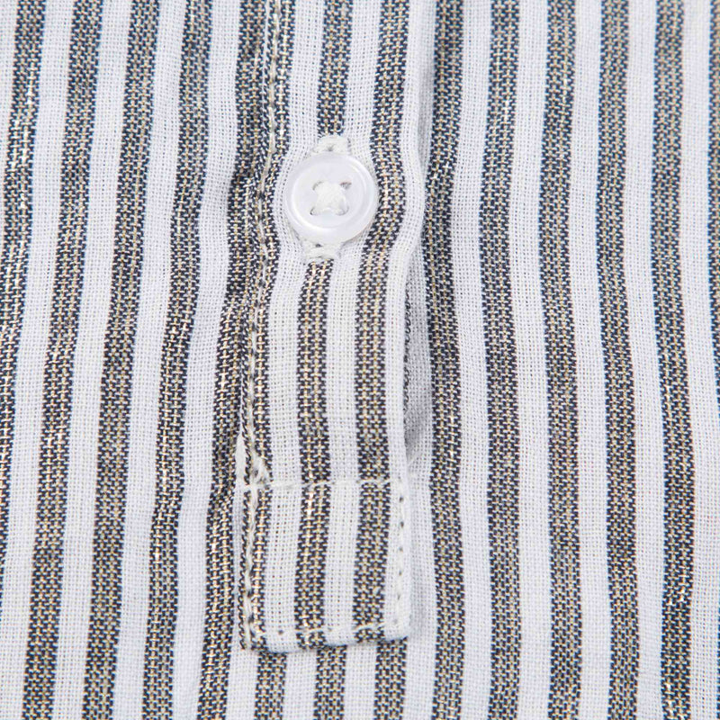 Girls Grey Stripes Cotton Shirt