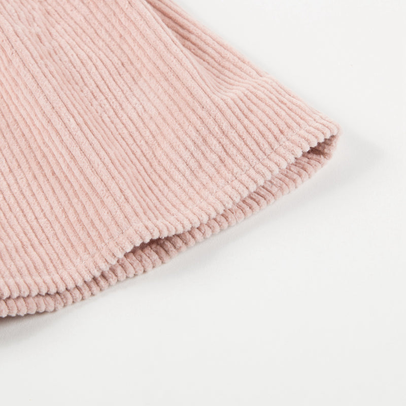 Girls Pink Big Corduroy Dress