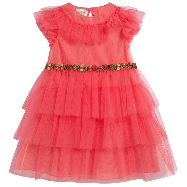 Baby Girls Rose Coral Dress