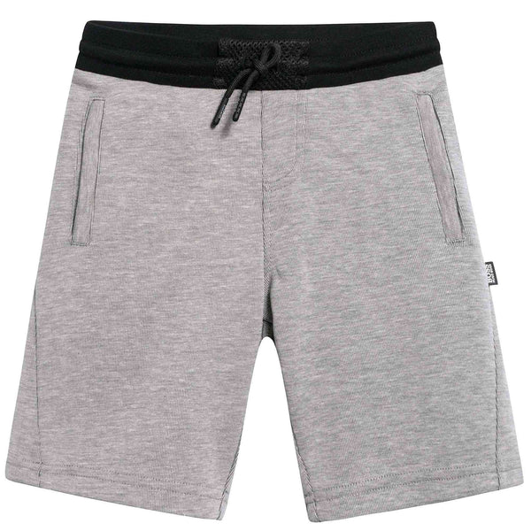 Boys Grey Cotton Shorts
