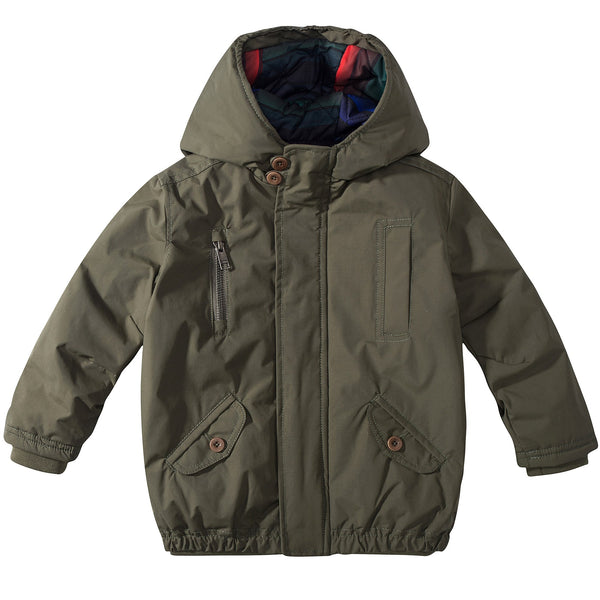 Boys  Dark Khaki  Coat