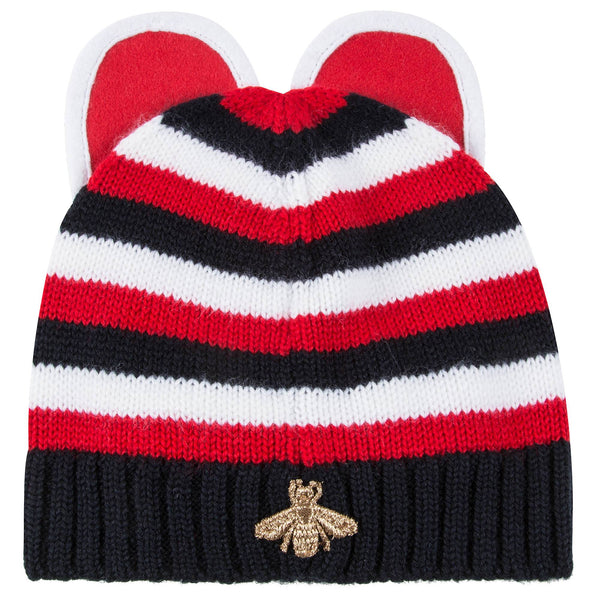 Baby Girls Red Wool Knitted  Hat