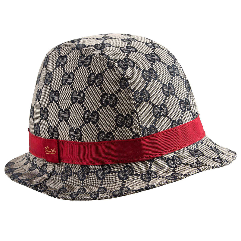 Girls Light Brown Sun Hat With Red Trims