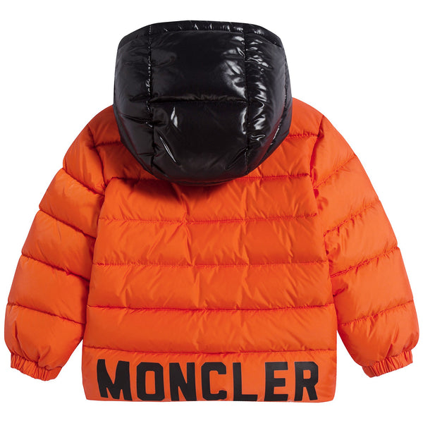 "Baby Boys Bright Orange ""LOURMARIN"" Padded Down Coat"