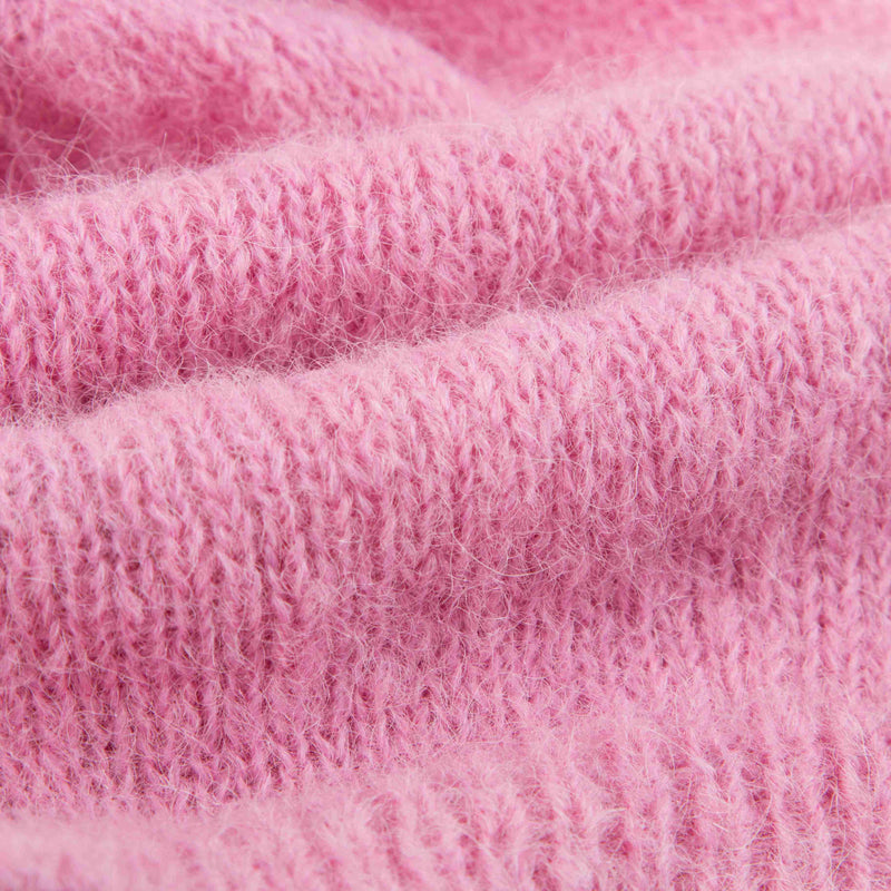 Girls Pink Alpaca Knitted Hat
