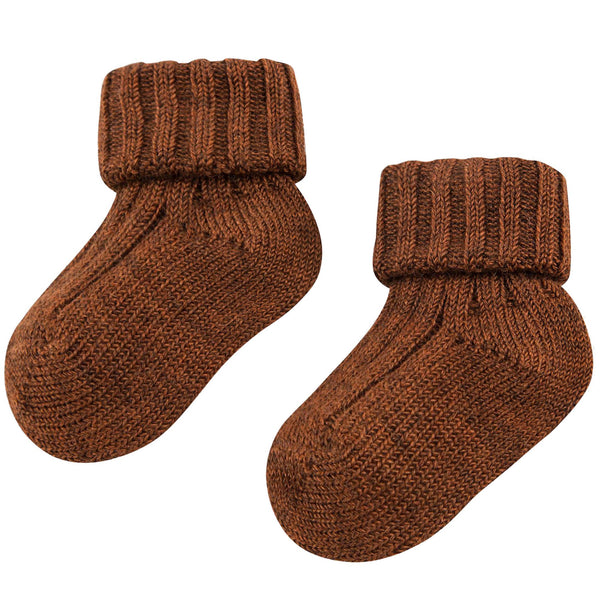 Baby Brown Knitted Low Socks