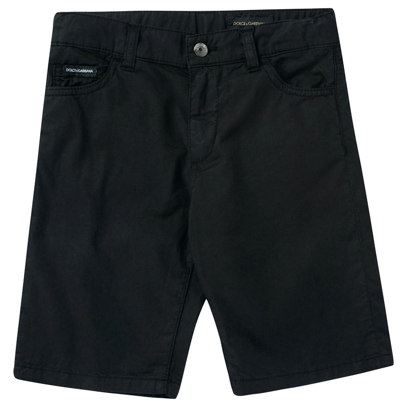 Boys Black Denim Shorts