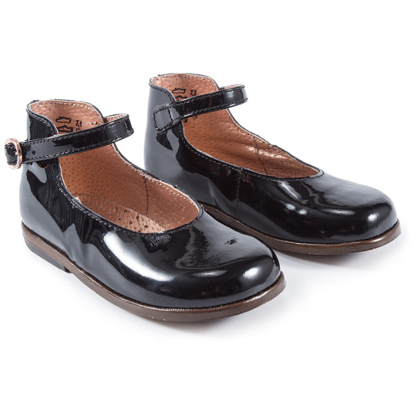 Baby Girls Black Leather Shoes