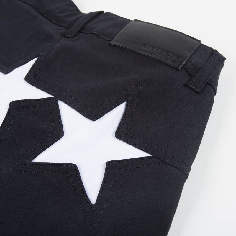 "Girls Black Cotton ""Star"" Jeans"