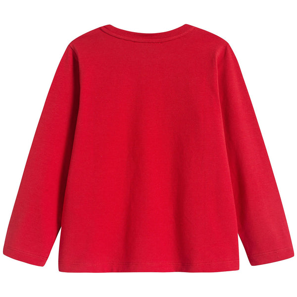 Boys & Girls Red Logo Cotton Top