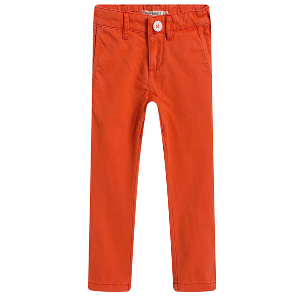 Boys Orange Jersey Cotton Trouser - CÉMAROSE | Children's Fashion Store - 1