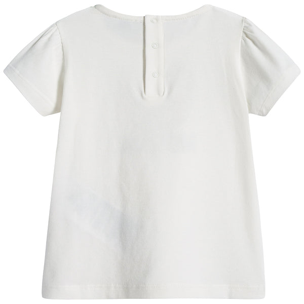 Baby Girls Ivory Teddy T-shirt