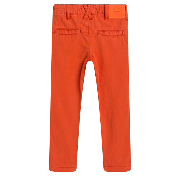 Boys Orange Jersey Cotton Trouser - CÉMAROSE | Children's Fashion Store - 2