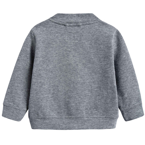 Baby Boys Steel Grey Cotton Jacket