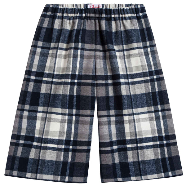 Girls Steel Grey Check Trouesers