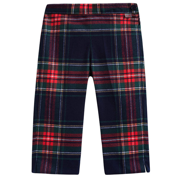 Girls Night Blue Check Trousers
