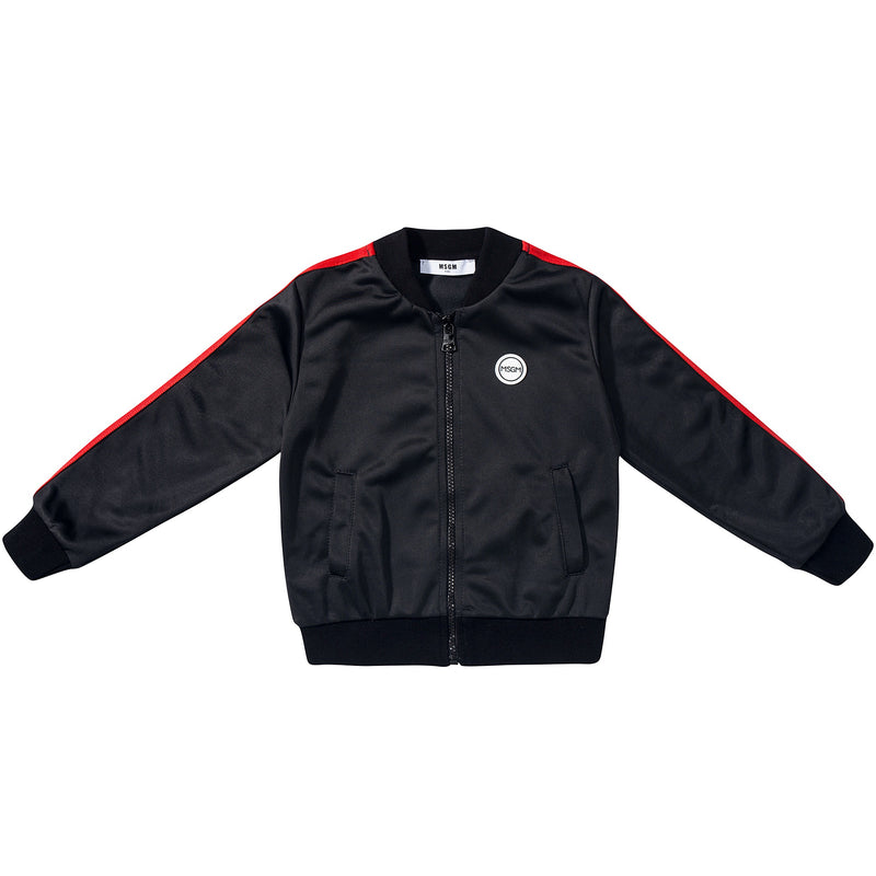 Girls  Black  Logo  Triacetat  Unisex  Jacket