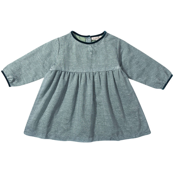Baby  Girls  Seafoam Ripple  Woven  Dress