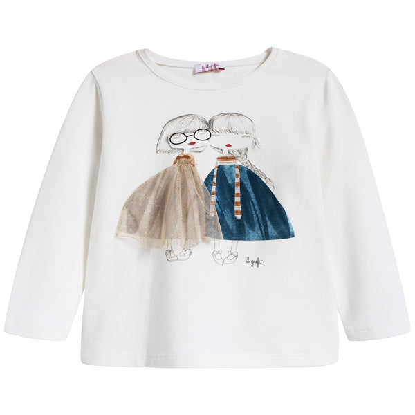 Girls Milk Cotton T-shirt