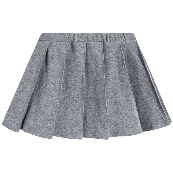 Girls Steel Grey Cotton Skirt