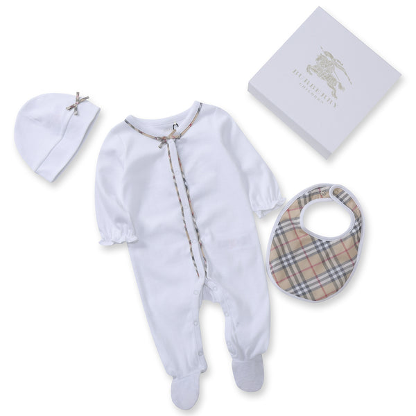 Baby White Cotton Babysuit Sets