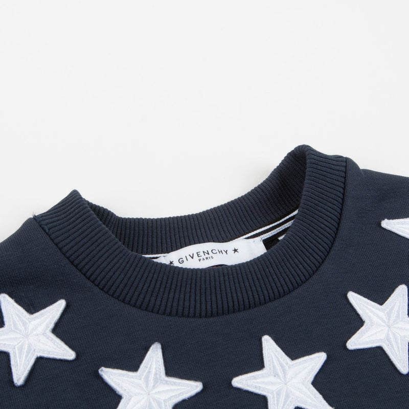 Boys Black Stars Printed Sweatshirt