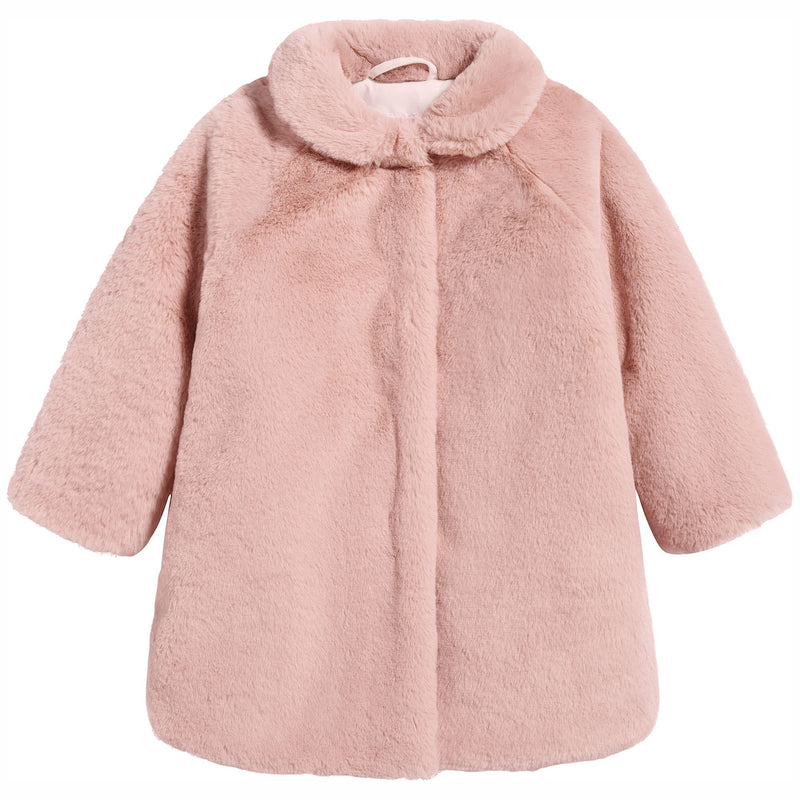 Baby Girls Pink Fur Coat