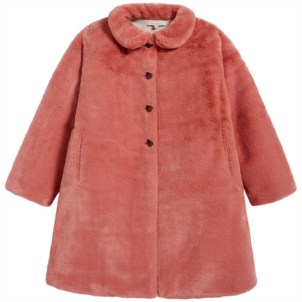 Girls Pink Pocket Coat