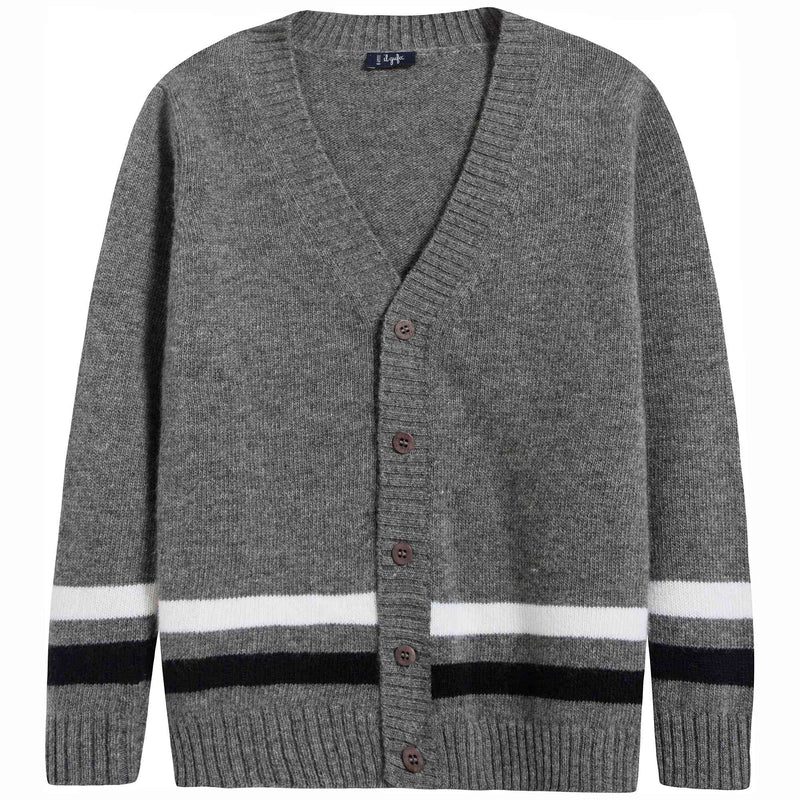 Baby Boys Grey Wool Cardigan