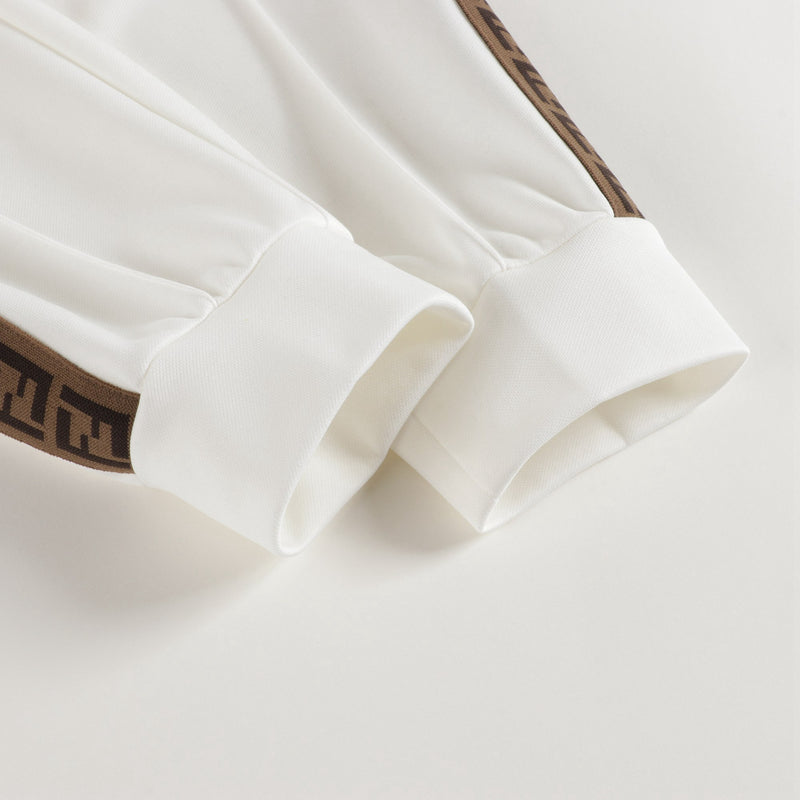 Boys White Logo Trousers