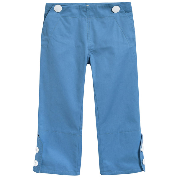 Girls Bright Cobalt Cotton Trousers
