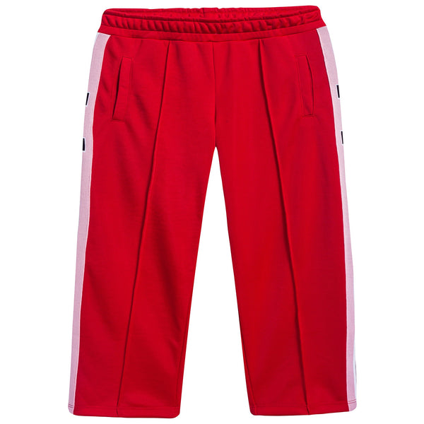 Girls Red Logo Trousers