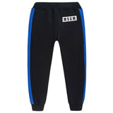 Boys Black Cotton Tracksuit Trousers