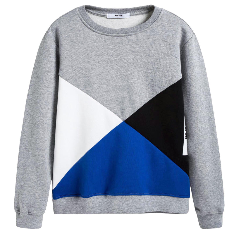 Boys Grey Geometric Sweatshirt