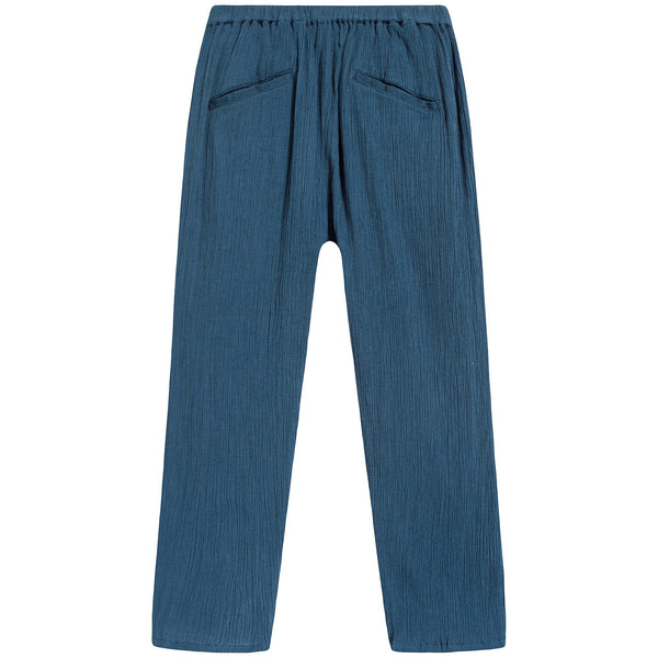 Girls Navy Cotton Trousers