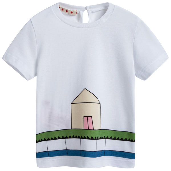 Baby Girls White House Printed Cotton T-shirt