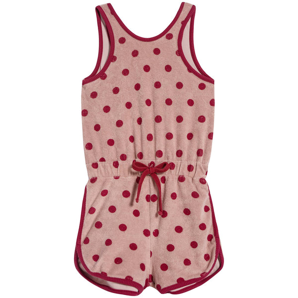 Girls Pink Dots Cotton Siamese Shorts