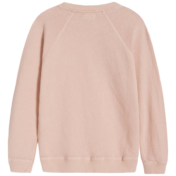 Girls Light Pink Printing Cotton Sweatshirt