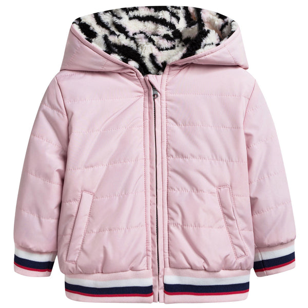 Baby Girls Pink Reversible Jacket